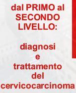 DAL PRIMO AL SECONDO LIVELLO: DIAGNOSI E TRATTAMENTO DEL CERVICOCARCINOMA